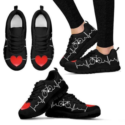 Image of Bicycle Heartbeat Sneakers -  Sneakers - EZ9 STORE