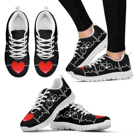 Bicycle Heartbeat Sneakers -  Sneakers - EZ9 STORE