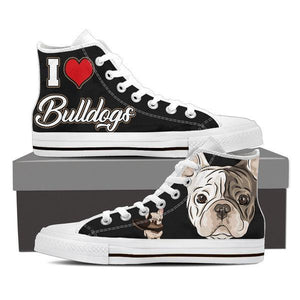 Bulldogs High Top Shoes -  High Top Canvas Shoes - EZ9 STORE