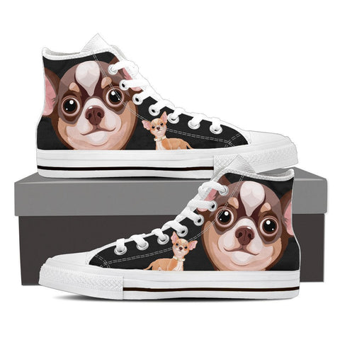 Image of Chihuahua - Women's High Top Canvas Shoes -  High Top Canvas Shoes - EZ9 STORE