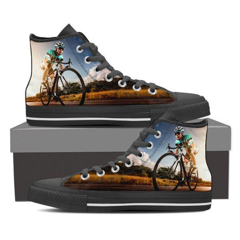 Image of Cycling High Top Canvas Shoes -  High Top Canvas Shoes - EZ9 STORE