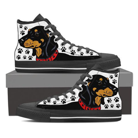Dachshund High Top Shoes -  High Top Canvas Shoes - EZ9 STORE