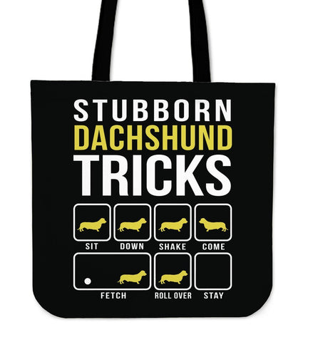 Image of Dachshund Tricks Tote Bag -  Tote Bag - EZ9 STORE