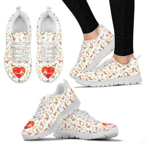 Dogs Changed My Heartbeat Sneakers - Sneakers - EZ9 STORE