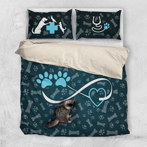 Image of Heart Of Veterinarian Bedding Set -  Bedding Set - EZ9 STORE