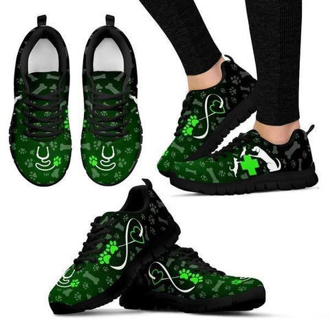 Image of Heart Of Veterinarian - Green Sneakers -  Sneakers - EZ9 STORE