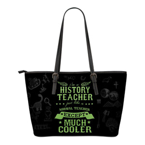 History Teacher Leather Tote Bag -  Leather Tote Bag - EZ9 STORE