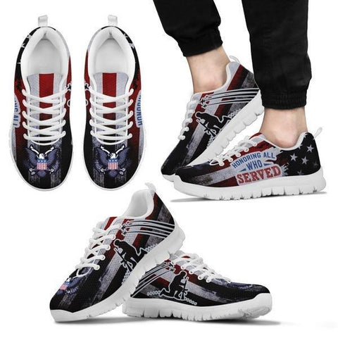 Image of Honoring All Who Served - Veterans Sneakers -  Sneakers - EZ9 STORE