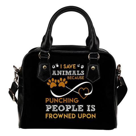 I Save Animals Shoulder Shoulder Bag -  Shoulder Bag - EZ9 STORE