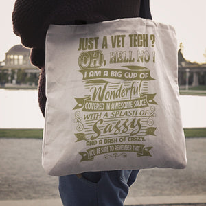 Just A VET Tech Tote Bag -  Tote Bag - EZ9 STORE