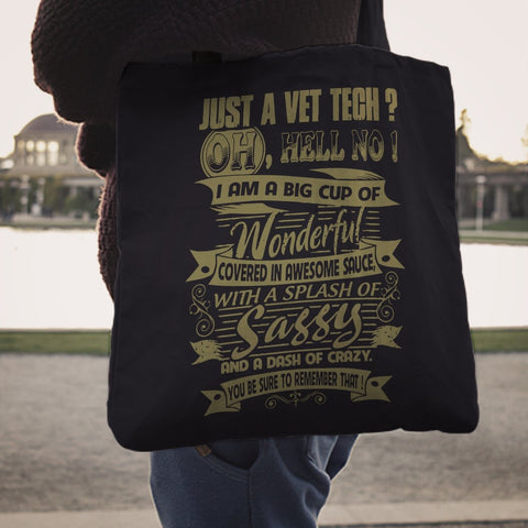 Image of Just A VET Tech Tote Bag -  Tote Bag - EZ9 STORE