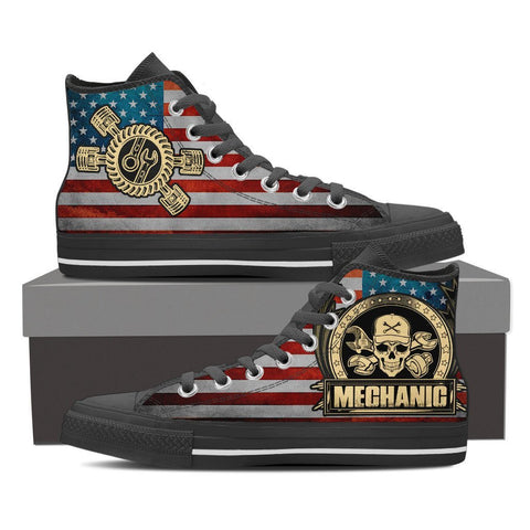 Mechanic - Men's High Top Canvas Shoes -  High Top Canvas Shoes - EZ9 STORE