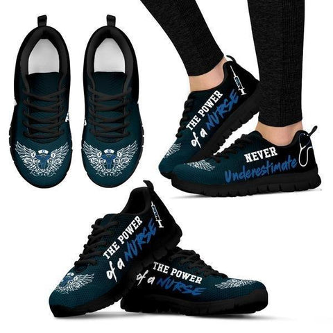 Image of Never Underestimate The Power Of A Nurse Sneakers -  Sneakers - EZ9 STORE