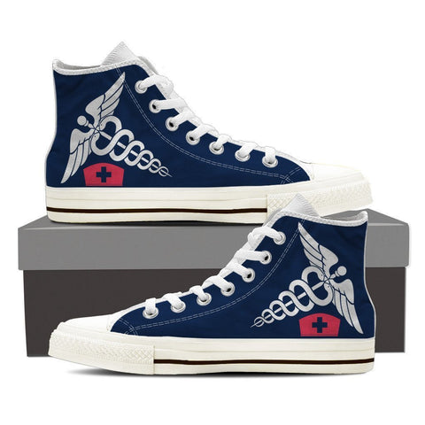Image of Nurse High Top Canvas Shoes -  High Top Canvas Shoes - EZ9 STORE