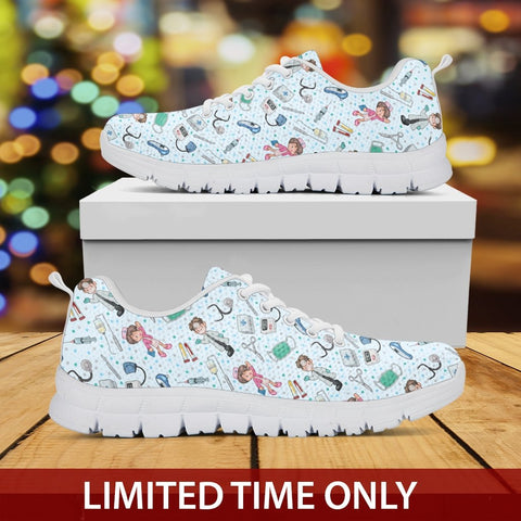 Image of Nurse - Light Blue Sneakers - Sneakers - EZ9 STORE