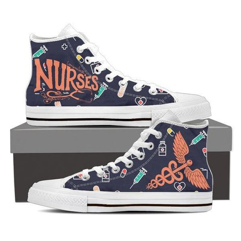 Nurses High Top Canvas Shoes