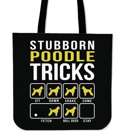 Image of Poodle Tricks Tote Bag -  Tote Bag - EZ9 STORE