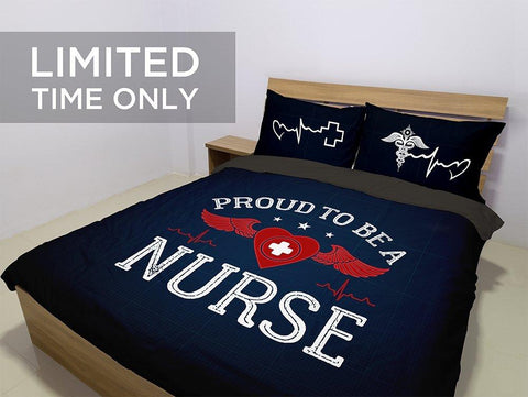 Proud To Be A Nurse Bedding Set -  Bedding Set - EZ9 STORE