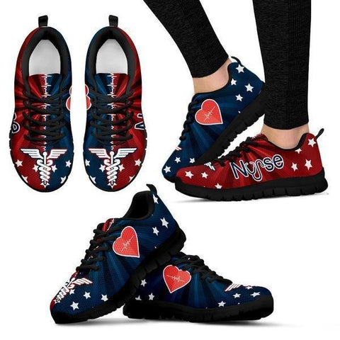 Proud To Be An American Nurse Sneakers -  Sneakers - EZ9 STORE