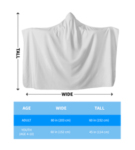 White Veterinary Hooded Blanket