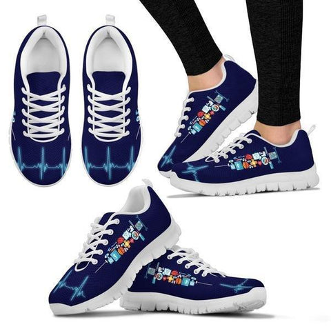 Image of Syringes Heartbeat Sneakers -  Sneakers - EZ9 STORE