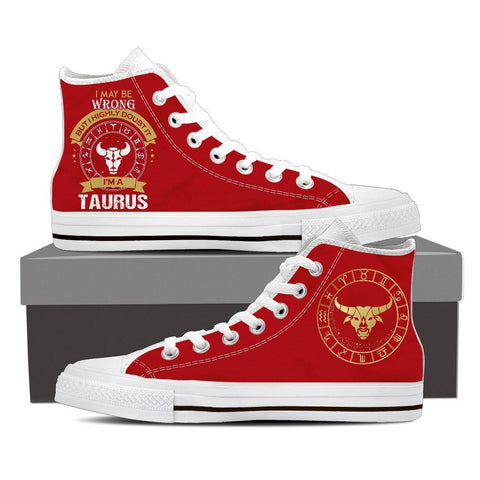 Image of Taurus - Women's High Top Shoes -  High Top Canvas Shoes - EZ9 STORE