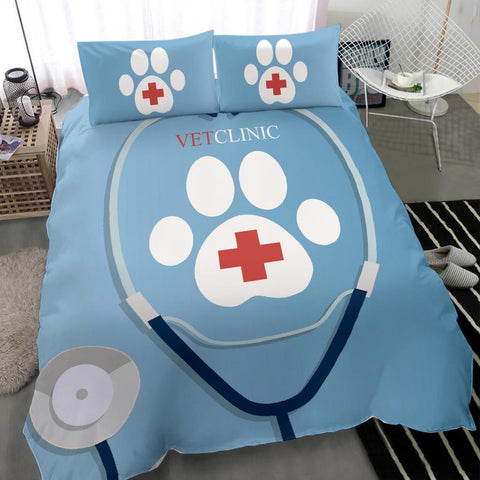 Vet Clinic Stethoscope Bedding Set - Bedding Set - EZ9 STORE