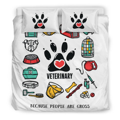 Veterinary - Because People Are Gross Bedding Set - Bedding Set - EZ9 STORE