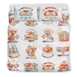 Veterinary Cute Pet Pattern Bedding Set - Bedding Set - EZ9 STORE