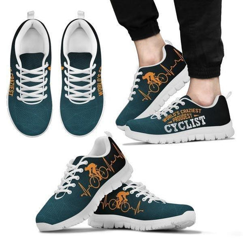 Image of World's Craziest, Proudest Cyclist Sneakers -  Sneakers - EZ9 STORE