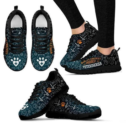 World's Craziest, Proudest Veterinarian Sneakers -  Sneakers - EZ9 STORE