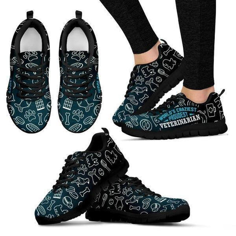 Image of World's Craziest, Proudest Veterinarian Sneakers -  Sneakers - EZ9 STORE