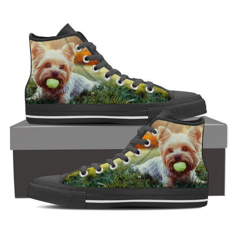 Yorkie Tennis High Top Canvas Shoes -  High Top Canvas Shoes - EZ9 STORE