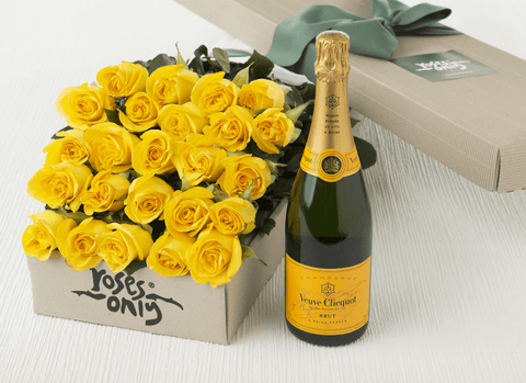 Roses and champagne UK delivered
