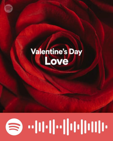 Album cover for Valentines day love songs playlist