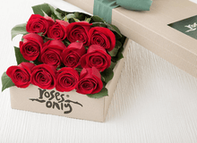 12 Red Roses Valentines Gift Box - Roses Only
