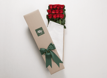 12 Red Roses Gift Box & Teddy Bear - Roses Only