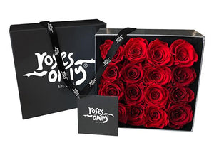 Red Infinity Preserved Roses (16 Flowers)