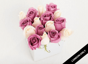 16 Pastel Rose Cube Garden - Roses Only