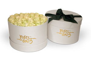 White Rose Hat Box - Roses Only