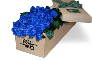 36 Blue Roses Gift Box - Roses Only