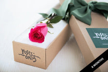 Single Bright Pink Rose Romantic Gift Box - Subscription - Roses Only