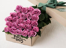 24 Mauve Roses Gift Box - Roses Only