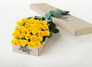 25 Yellow Roses Gift Box
