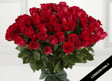 Classic 50 Red Roses Bouquet - Roses Only