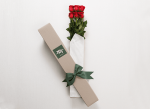 6 Red Roses Gift Box & Teddy Bear - Roses Only