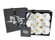 White Cream Infinity Preserved Roses (9 Flowers)