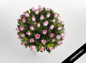Deluxe Pink 50 Rose Arrangement - Roses Only
