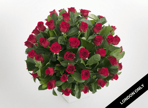 Deluxe 50 Red Roses Arrangement - Roses Only