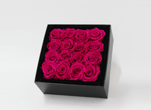16 Valentines Bright Pink  Infinity Preserved Roses
